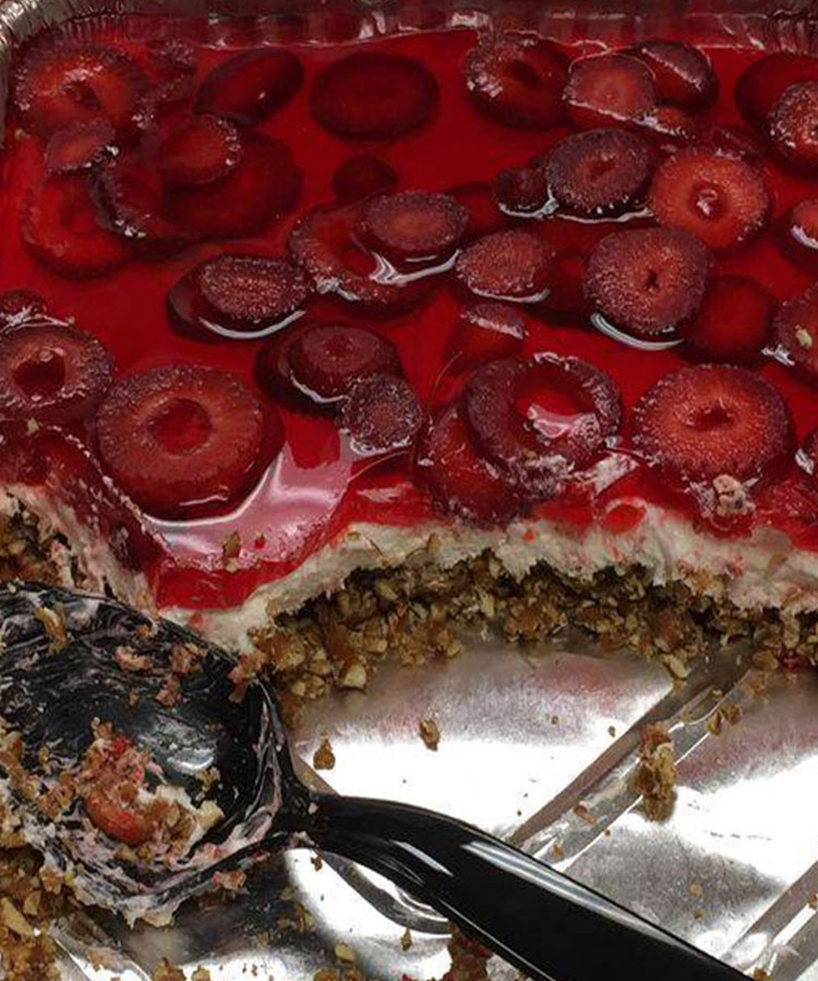 This Weight Watchers Strawberry Pretzel Cheesecake Dessert will be the hit at your next BBQ or family gathering, Your family will thank you for this Lightened Up Strawberry Pretzel Cheesecake Dessert.